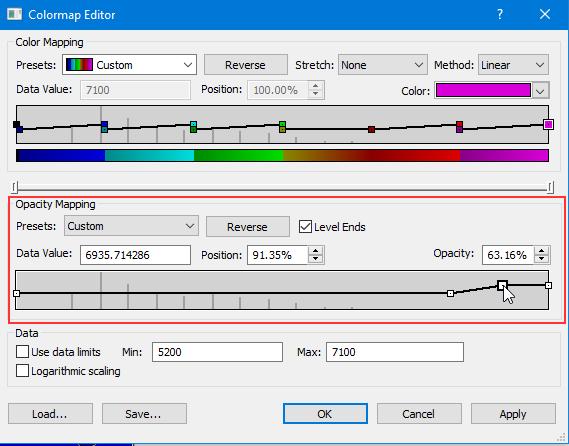 Colormap Editor dialog