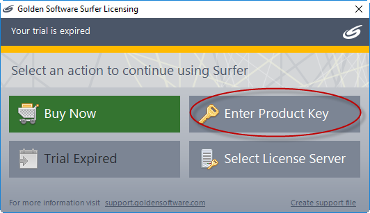 Activate Surfer, Grapher, or Strater on an offline computer