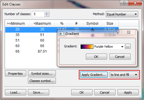 Applying a Gradient in Grapher