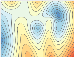 Surfer contour map without faults or breaklines