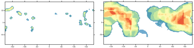 Search ellipse is important for a Surfer density map.